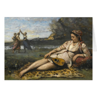 Jean-Baptiste-Camille Corot -Young Women of Sparta Card