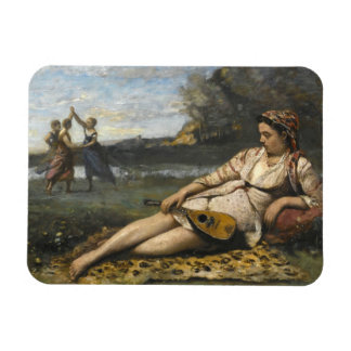Jean-Baptiste-Camille Corot -Young Women of Sparta Magnet