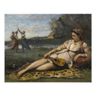 Jean-Baptiste-Camille Corot -Young Women of Sparta Poster