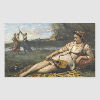 Jean-Baptiste-Camille Corot -Young Women of Sparta Sticker