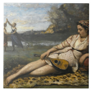 Jean-Baptiste-Camille Corot -Young Women of Sparta Tile