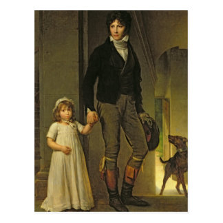 Jean-Baptiste Isabey  and his Daughter Postcard