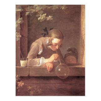 Jean-Baptiste-Simeon Chardin- Soap Bubbles Postcard