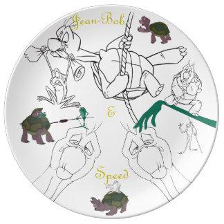 "Jean-Bob&Speed Porcelain Sketch Plate (10.75"") Porcelain Plate"
