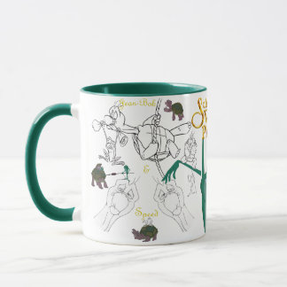 Jean-Bob&Speed Sketch Mug with Colored Rim&Handle