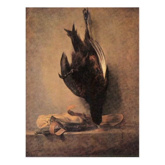 Jean Chardin - Still Life with Dead Pheasant and H Postcard