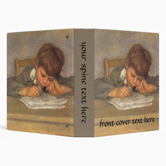 Jean Drawing by Pierre Renoir, Vintage Fine Art 3 Ring Binder