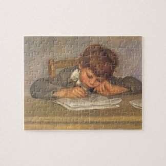 Jean Drawing by Pierre Renoir, Vintage Fine Art Jigsaw Puzzle