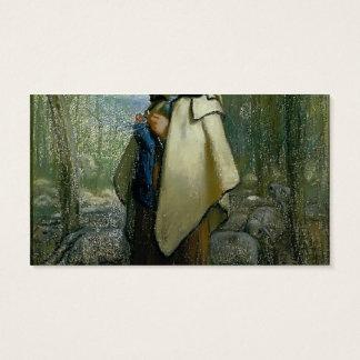 Jean-Francois Millet- The Knitting Shepherdess Business Card