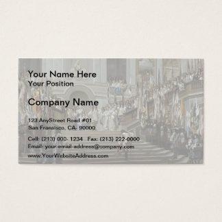 Jean Gerome- Reception of Le Condé at Versailles Business Card
