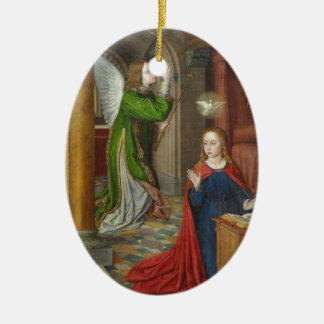 Jean Hey Annunciation Ceramic Oval Ornament
