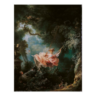 Jean-Honor Fragonard The Swing Poster