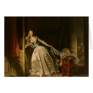 Jean-Honore Fragonard- The Stolen Kiss Card