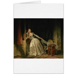 Jean-Honore Fragonard - The Stolen Kiss - Fine Art Card