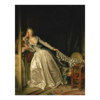 Jean-Honore Fragonard - The Stolen Kiss - Fine Art Letterhead