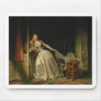Jean-Honore Fragonard - The Stolen Kiss - Fine Art Mouse Pad