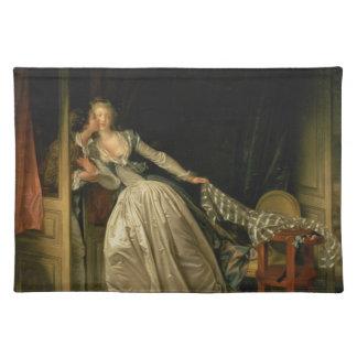 Jean-Honore Fragonard - The Stolen Kiss - Fine Art Placemat