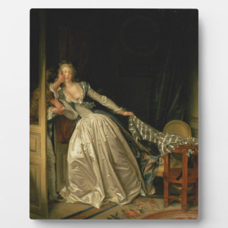 Jean-Honore Fragonard - The Stolen Kiss - Fine Art Plaque