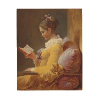 Jean-Honore Fragonard Young Girl Reading Fine Art Wood Canvas