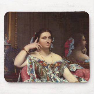 Jean ingres- Portrait of Madame Moitessier Sitting Mouse Pad