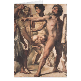 Jean Ingres- Study for Martyrdom of St. Symphorien Card