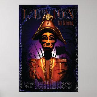 Jean-Jacques Dessalines carving Poster