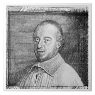 Jean Jacques Olier (1608-57) (engraving) (b/w phot Tiles