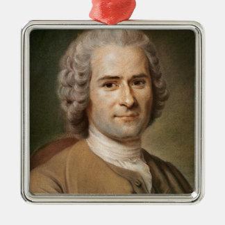 Jean-Jacques Rousseau  after 1753 Silver-Colored Square Ornament