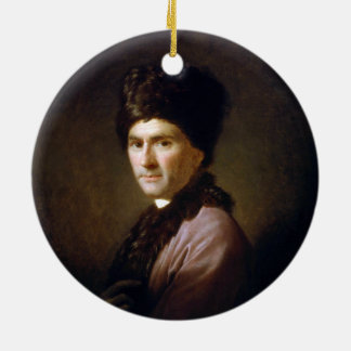 Jean-Jacques Rousseau by Allan Ramsay (1766) Round Ceramic Ornament
