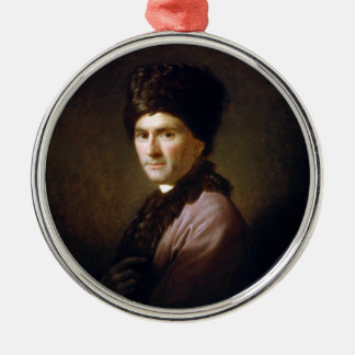 Jean-Jacques Rousseau by Allan Ramsay (1766) Silver-Colored Round Ornament