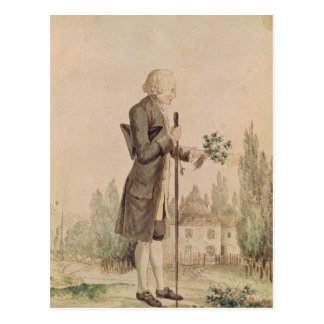 Jean-Jacques Rousseau  Gathering Herbs Postcard