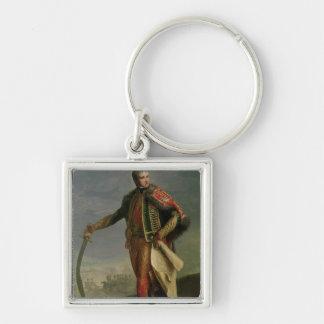 Jean Lannes  Duke of Montebello Silver-Colored Square Keychain