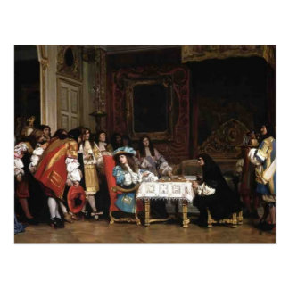 Jean-Leon Gerome- Louis XIV and Moliere Postcard