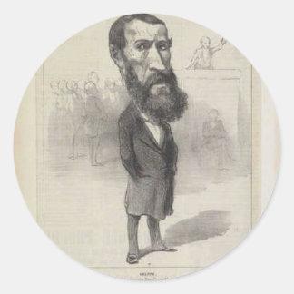 Jean-Louis Greppo by Honore Daumier Round Sticker