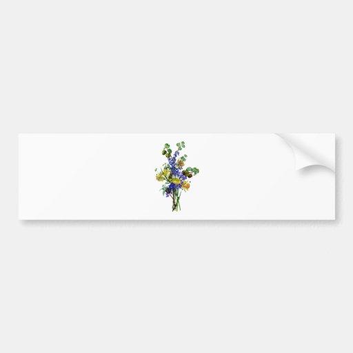 Jean Louis Prevost Daffodil Bouquet Bumper Stickers