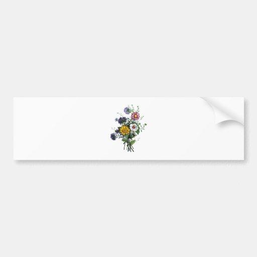 Jean Louis Prevost Daisy and Sunflower Bouquet Bumper Sticker