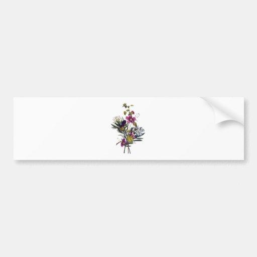 Jean Louis Prevost Mixed Flower Bouquet Bumper Sticker