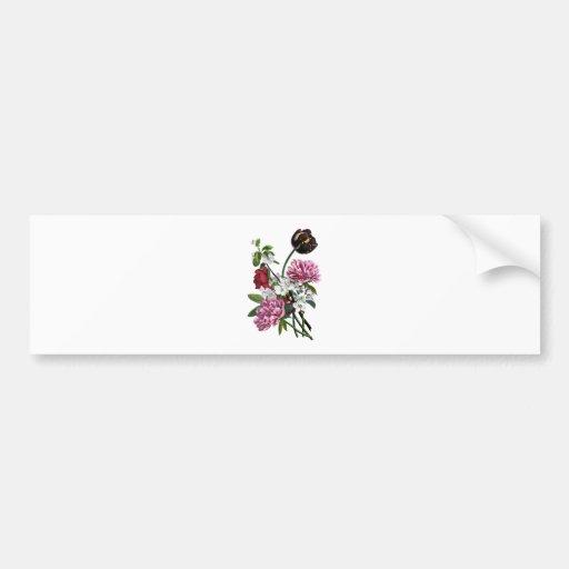 Jean Louis Prevost Peony and Tulip Bouquet Bumper Sticker