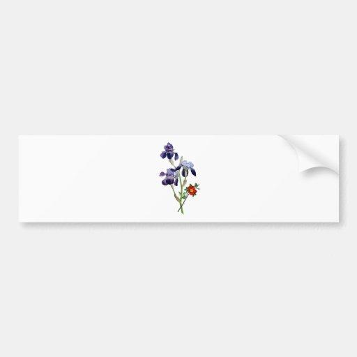 Jean Louis Prevost Purple Iris Bouquet Bumper Sticker