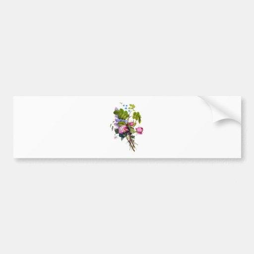 Jean Louis Prevost Rose Bouquet Bumper Sticker