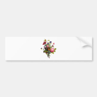 Jean Louis Prevost Roses and Pansy Bouquet Bumper Sticker