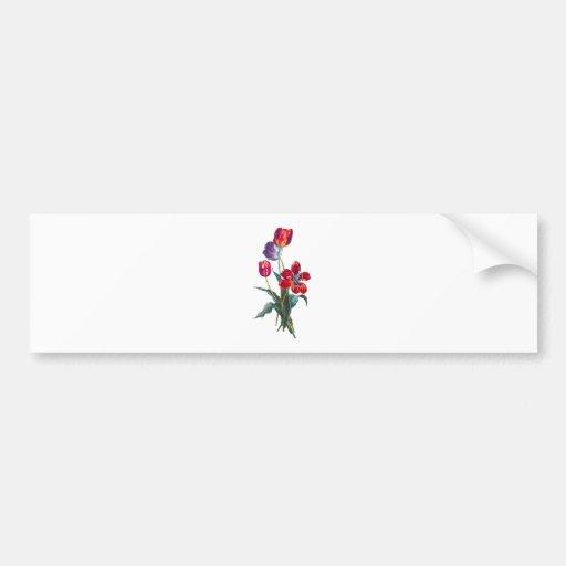 Jean Louis Prevost Tulip Bouquet Bumper Sticker