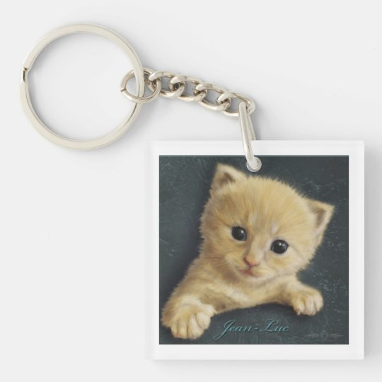 Jean-Luc Single-Sided Square Acrylic Keychain