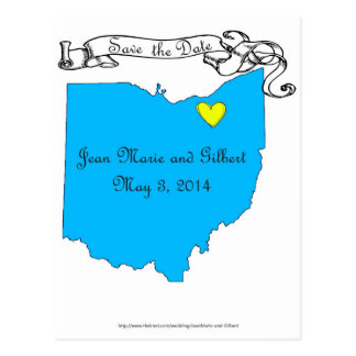 Jean Marie and Gilbert Save the Date Postcard