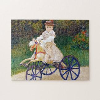 Jean Monet on a Mechanical Horse Claude Monet Jigsaw Puzzle