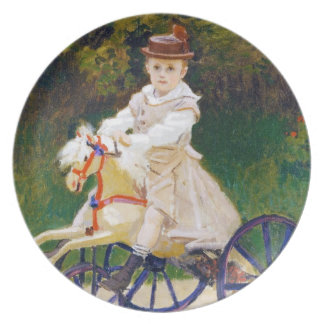 Jean Monet on a Mechanical Horse Claude Monet Plate