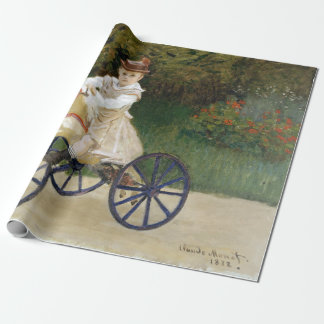 Jean Monet on His Hobby Horse Wrapping Paper