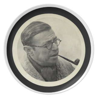 Jean-Paul Sartre Dinner Plate