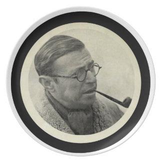 Jean-Paul Sartre Plate