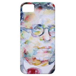 jean paul sartre - watercolor portrait case for the iPhone 5
